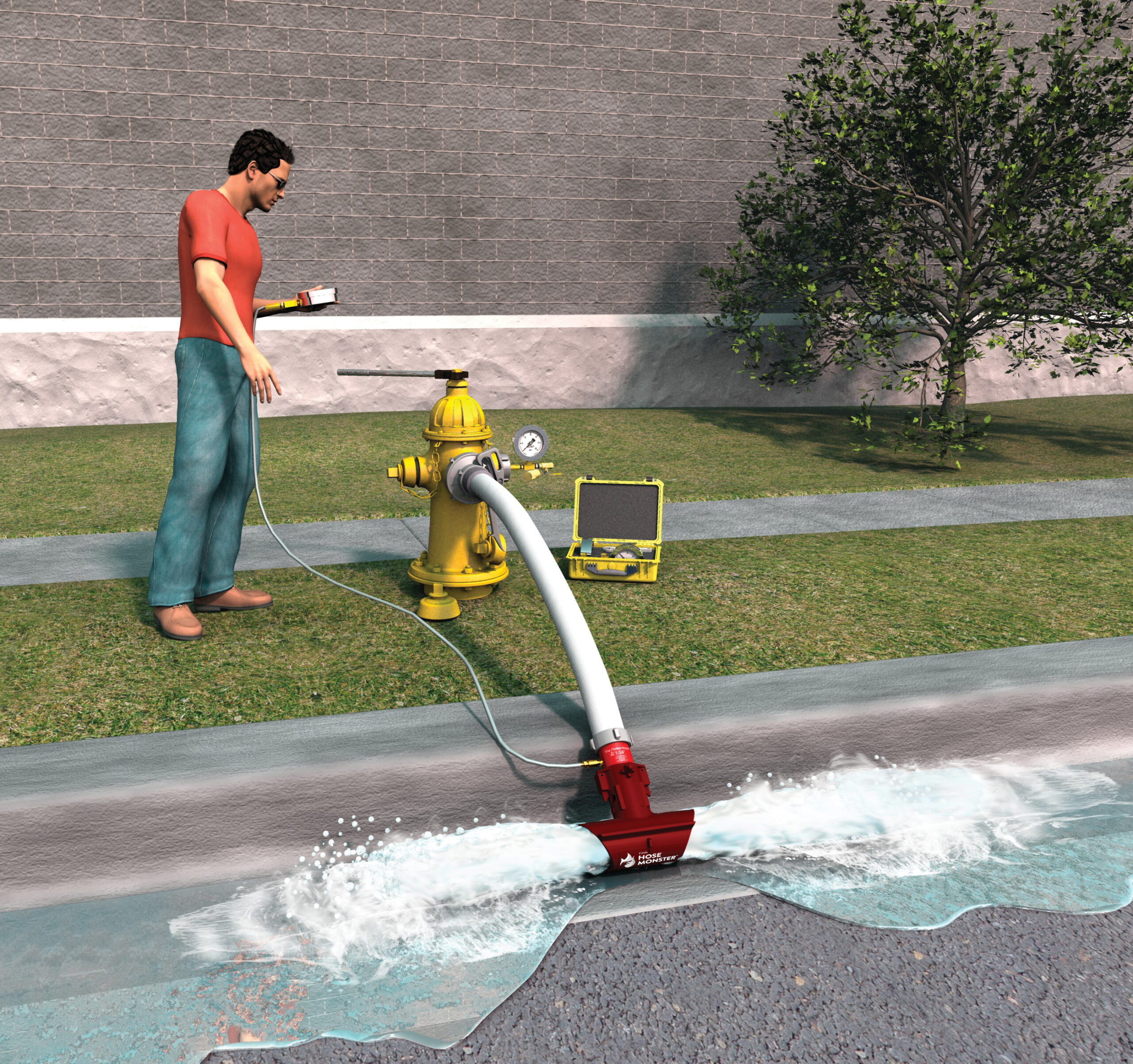 Hose Monster's Little Hose Monster can help you test fire hydrant water pressure to provide accurate data.