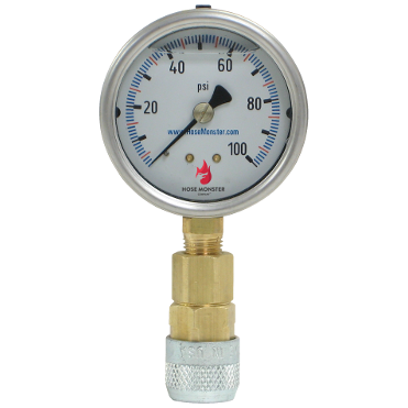 Accurate to 1 percent Hose Monster has these 2.5 inch analog flow rate gauges available now.