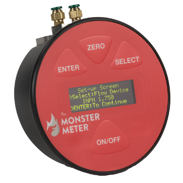 Rated to 0.3% Hose Monster offers this Monster Meter Differential Gauge for in-line pitotless nozzle kits.