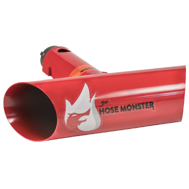 2.5 inch wide Hose Monster flusher comes with a built-in pitot for hydrant and water main flushing.