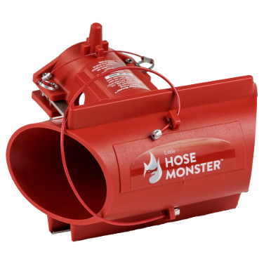 Fire departments can use the Little Hose Monster fire pump tester to test the water flow by Hose Monster.