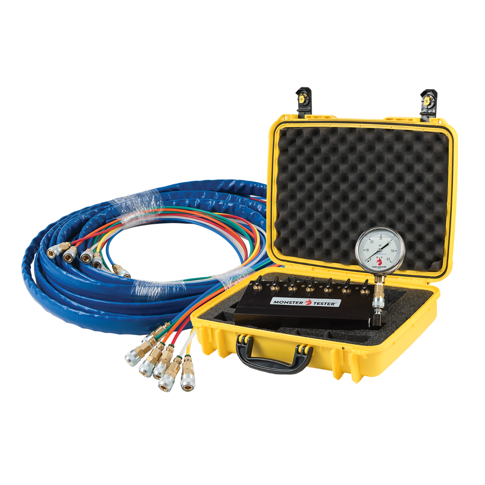Hose Monster offers all the equipment you'll need such as the Monster Tester with tube set and gauge for fire pump tests.
