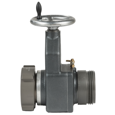 View specs for the Hose Monster 4.5 inch wide slow close gate valve used for hydrant testing purposes.