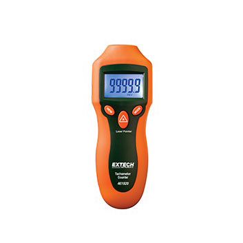Hose Monster's line of products include devices such as this tachometer for measuring pump RPM during a fire pump test.