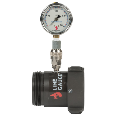 Hose Monster's products include this line gauge which measures static pressure and residual pressure in a water system.