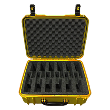 Carry your Hose Monster gauges safely by using this convenient yellow equipment case for gauges made from durable plastic.