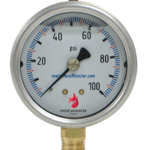 Hose Monster has water valve and water system parts such as this 2.4-inch analog pump room gauge accurate to 1 percent.