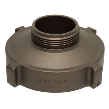 To reduce from a four inch wide to 2.5 inch wide hydrant pumper use this Hose Monster adapter reducer.
