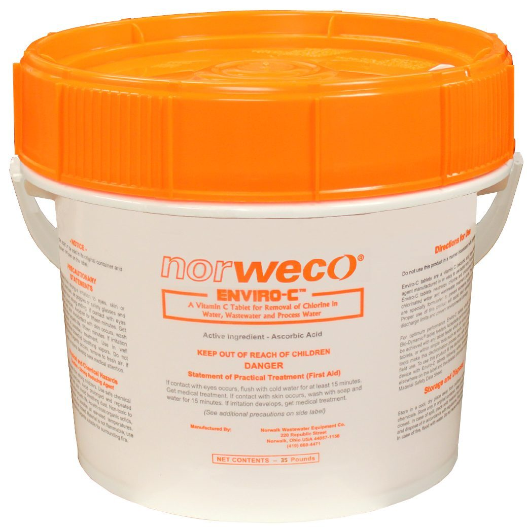 These NORWECO Enviro-C tablets help dechlorinate water in order to do proper water system and pressure testing.