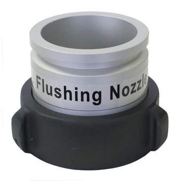 Details about the Hose Monster flushing nozzle for the Little Hose Monster for flow control without measurement.