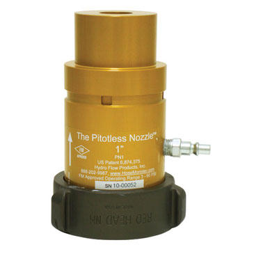 Get details here about the Hose Monster brand one inch wide pitotless nozzle to measure water flow.